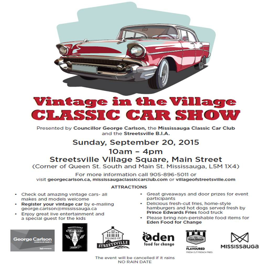 Vintage In The Village Classic Car Show George Carlson - Car show giveaways